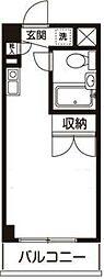 ワンズレジデンス立川錦町[3階]の間取り