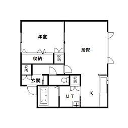 アジアートIII[302号室]の間取り