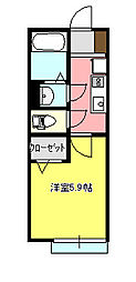 サーフサイド茅ケ崎2[202号室]の間取り