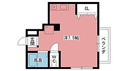 レンタルハウス深津II[205号室]の間取り