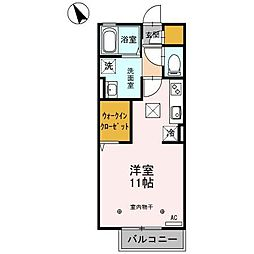 埼玉県本庄市早稲田の杜3丁目の賃貸アパートの間取り