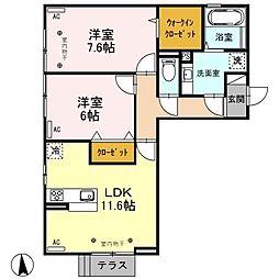 (仮)D-room元町[203号室]の間取り