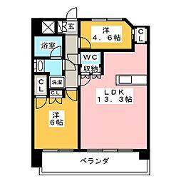 サンクレイドル名古屋大須[3階]の間取り