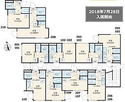 ロンジェスマン三宿(Wi-Fi無料・仲介手数料0円)[107号室号室]の間取り