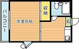 コーポ村上[2階]の間取り