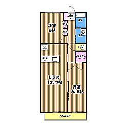 ニューノース壱番館[2階]の間取り