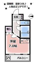 コーポ郷[305号室号室]の間取り