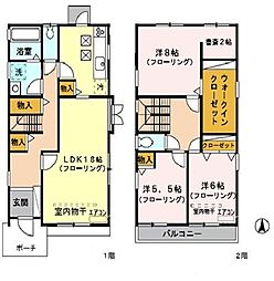 [一戸建] 埼玉県さいたま市浦和区上木崎7丁目 の賃貸【/】の間取り