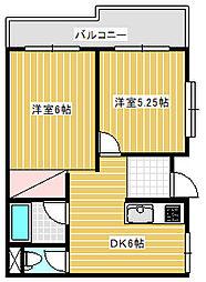 アンバトウ鵠沼[1B号室]の間取り