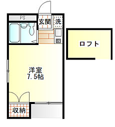 神奈川県海老名市中新田3丁目の賃貸アパートの間取り