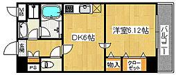 コンフォート23[4階]の間取り