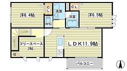 仮称)シャーメゾン東山[2階]の間取り