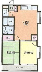 小池コーポ[3階]の間取り