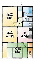 [一戸建] 千葉県茂原市七渡 の賃貸【/】の間取り