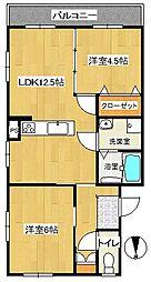 南戸塚スカイハイツ[101号室]の間取り