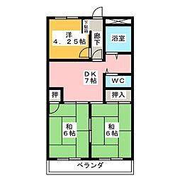 宝八事ハイツ(605)[6階]の間取り