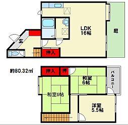テラスハウス松尾[1階]の間取り