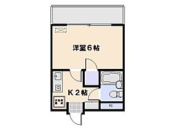 イーストコーポ[4階]の間取り