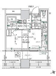 ローレルタワールネ浜松町 5階ワンルームの間取り