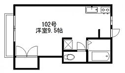 サンプレイス三宅[102号室]の間取り