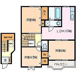 ノーブル B棟[2階]の間取り