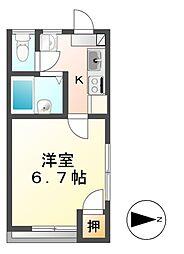 プチハウス三輪[1階]の間取り