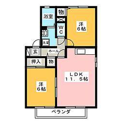 アポロタウン E[2階]の間取り