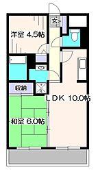 A&Tガーデンハウス[2階]の間取り