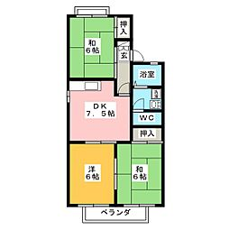 セジュールオプティマ[2階]の間取り