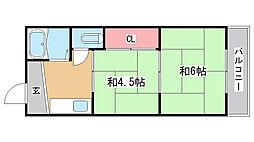 兵庫県神戸市長田区御屋敷通5丁目の賃貸マンションの間取り