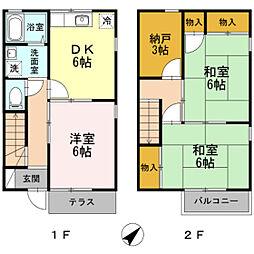 広島県広島市南区向洋新町1丁目の賃貸アパートの間取り