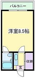 パインハイム3[3階]の間取り