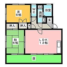 カラントサンクA棟[1階]の間取り