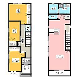 [一戸建] 愛知県名古屋市中村区下米野町1丁目 の賃貸【/】の間取り