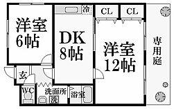 メゾンKI[3階]の間取り