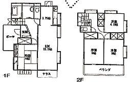 [一戸建] 埼玉県幸手市西2丁目 の賃貸【/】の間取り