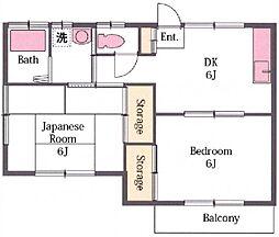 ミクターハイツ[1階]の間取り