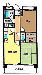神奈川県茅ヶ崎市矢畑の賃貸マンションの間取り