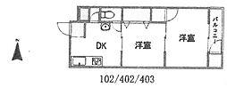 浅堀マンション[102号室]の間取り