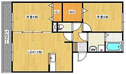 レジデンスTamaya B[3階]の間取り