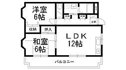 富士雁屋西マンション[0405号室]の間取り