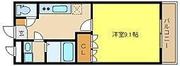 兵庫県姫路市御国野町御着の賃貸アパートの間取り