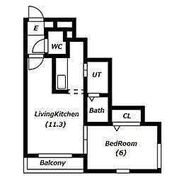 R−FREE(アールフリー)南5西12[2階]の間取り