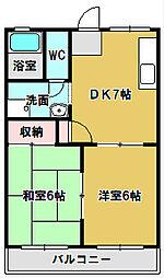 三重県鈴鹿市西条6丁目の賃貸マンションの間取り