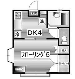シャインハイム[1階]の間取り