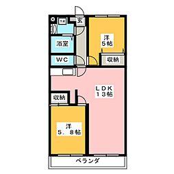STホームひくま[3階]の間取り