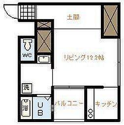 Apartment 繭[203号室]の間取り