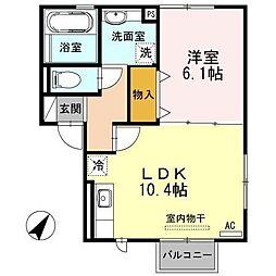 セジュールM・A[2階]の間取り