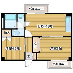 メゾン崎山[1階]の間取り