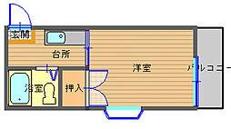 長崎県長崎市日の出町の賃貸アパートの間取り